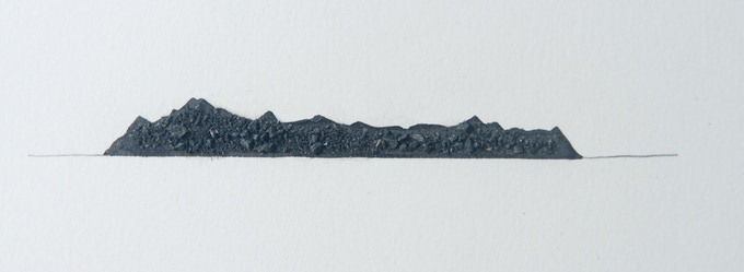 Detail of Arctic rock dust drawing.