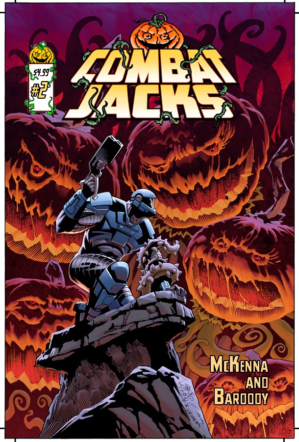 Combat Jacks #2 retail edition with cover art by Kelley Jones, Mark McKenna and Laura Martin.