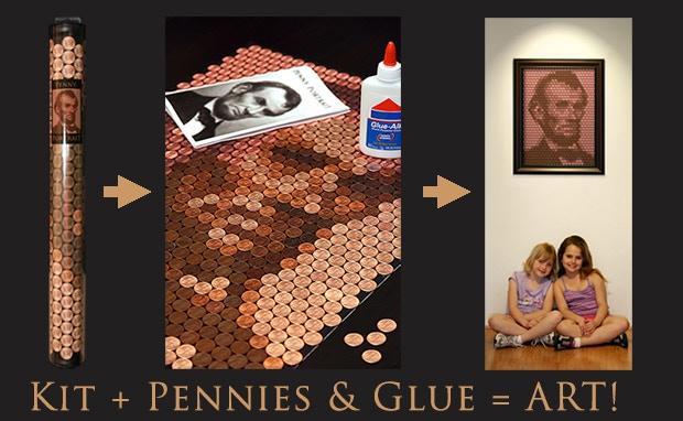 Kit + Pennies & Glue = ART!