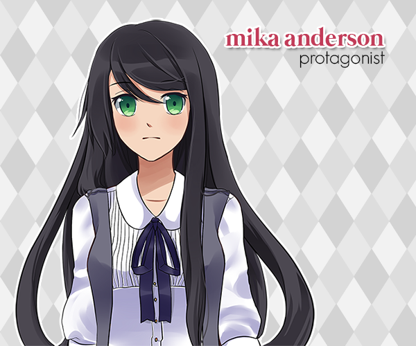 Mika (name changeable) Anderson, is a quiet girl in her senior year of high school. At the start of the game, she inherits the estate of her recently passed grandfather and as a result meets the incubi, who drastically change her life.