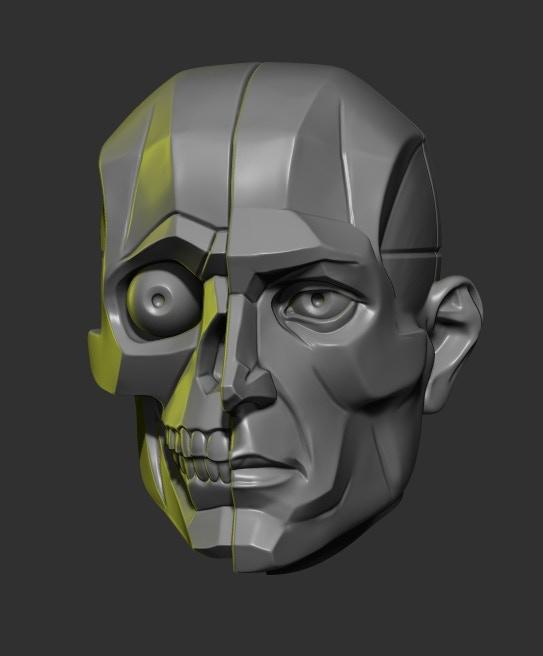 Split Planar Skull/Head
