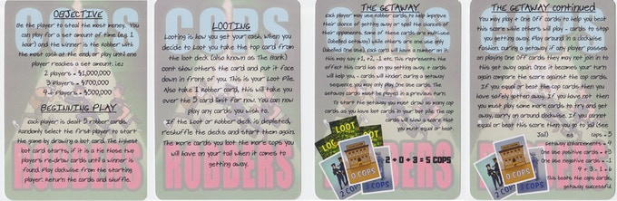 prototype rule cards (scanned image)