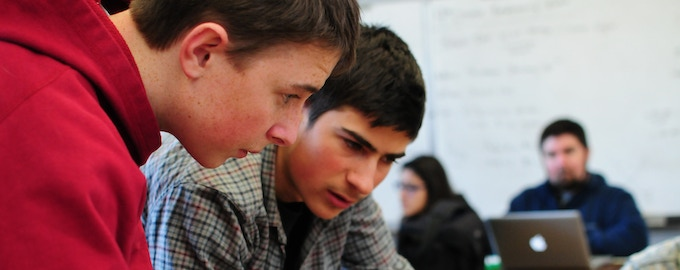 Ezra learns the basics at Indian Valley Academy with Bryson, the 3D printing prodigy