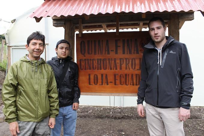 Eduardo Tapia Castro, Jorge Alvarado Tapia and Alex Gledhill