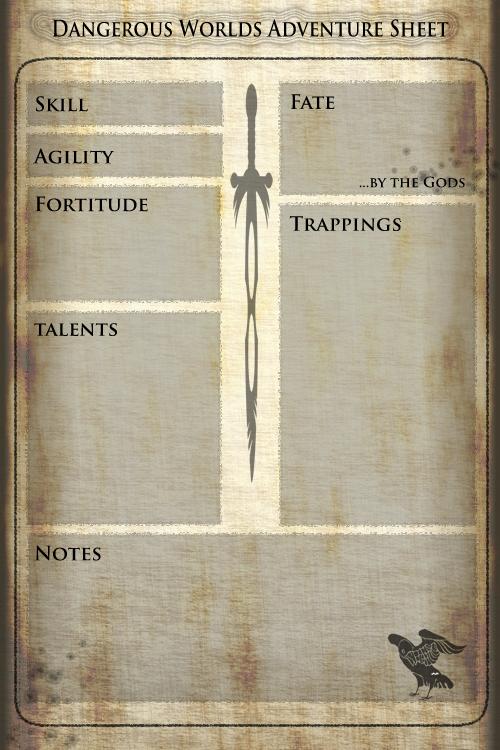 The ubiquitous adventure sheet