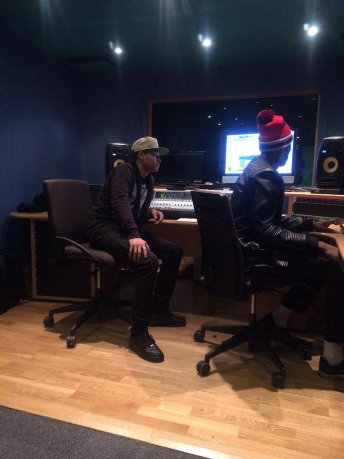 In the studio with my friend Micah