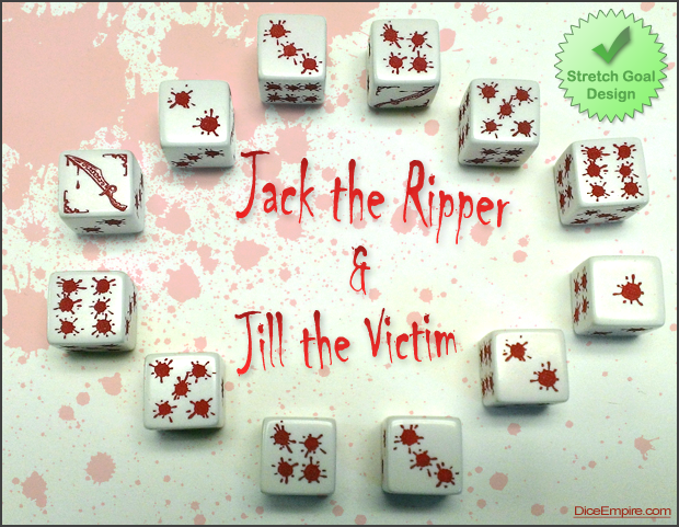 Available Colors - White Die: red paint. (Jack has a knife, Jill does not.)