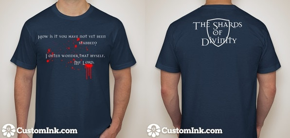 Our cast and crew shirt. Also one of our rewards.