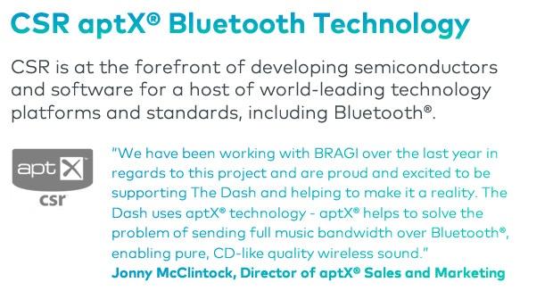 The Dash – Wireless Smart In Ear Headphones by BRAGI LLC