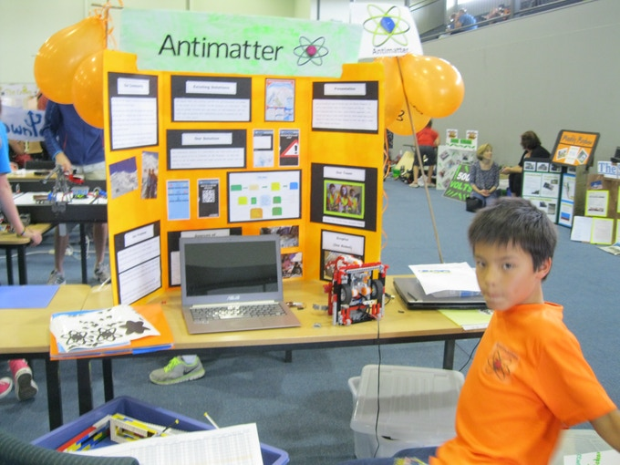 Ethan with our Pit display at the New Zealand FLL Championship