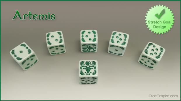 Available Colors - White Die: green paint.   Ivory Die: green paint.