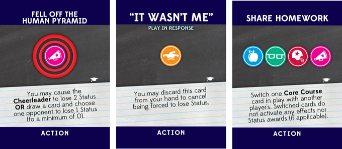 Three Action Cards
