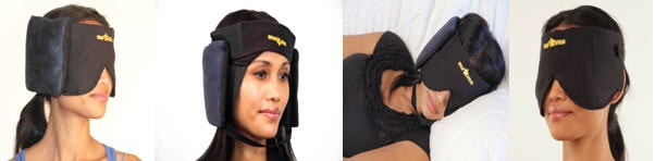 Different Modes of the Newer Nap Star Transformer Three Piece Sleep Mask Pillow.. Features Independent Mask, Pillow, Chin Strap.