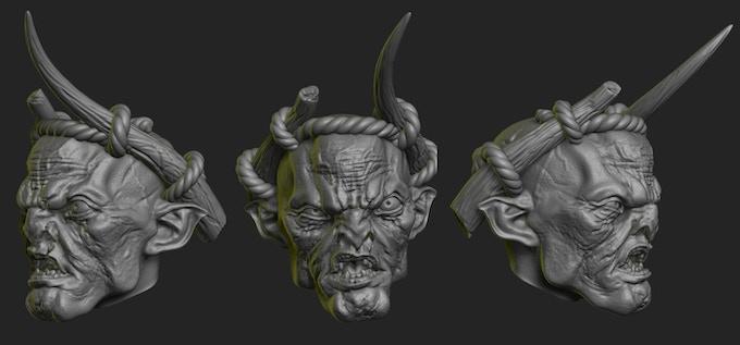 Evil Orc head