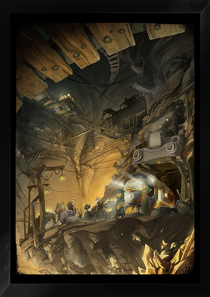 """""""Goldmine"""" by Jeremy Couturier, Designer for Wakfu Season 1 & 2, Treasures of Kerub, and the Wakfu Special Episodes"""