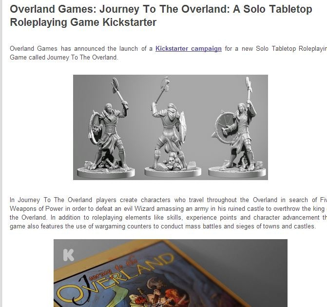 Journey To The Overland: A Solo Tabletop Roleplaying Game by