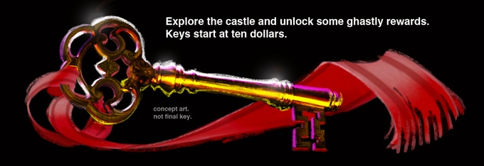 All pledges $10 and up get a real skeleton key! Real skeleton not included.