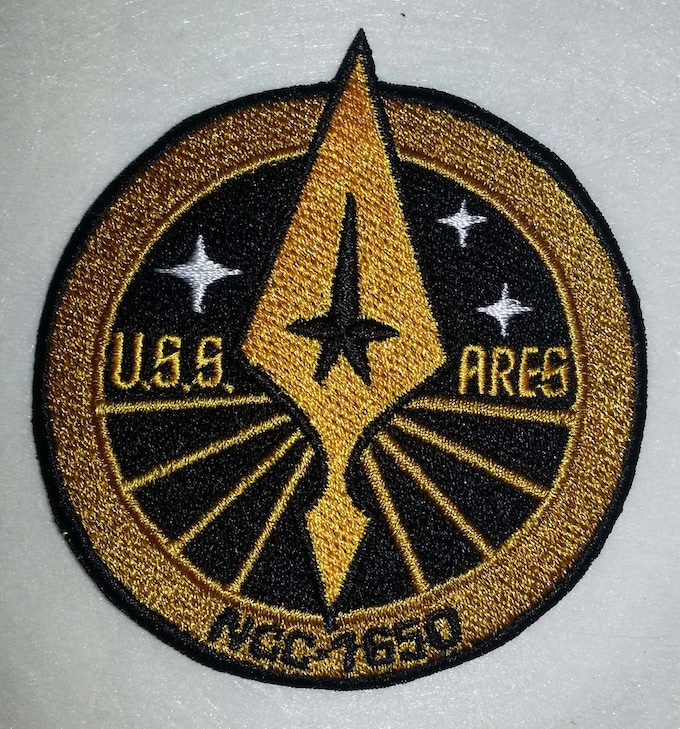 USS Ares patch.  Part of the $ 25 level.