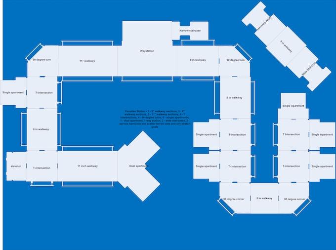 Paradise Station 4x6' sample layout