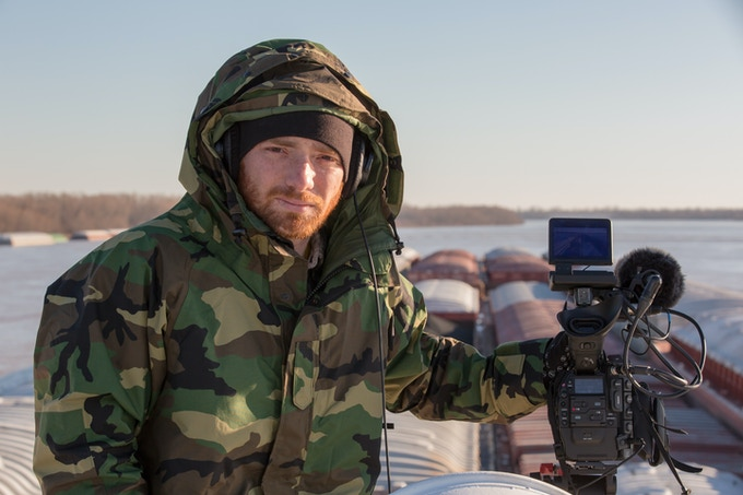 That's me, apparently still angry over the memory of DSLR documentary shoots. Photo by Ben Powell.