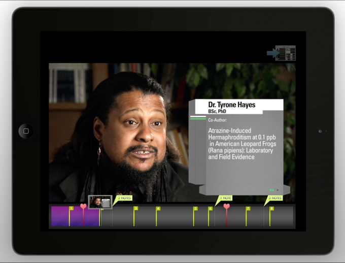 Professor Tyrone Hayes has interactive material in his section