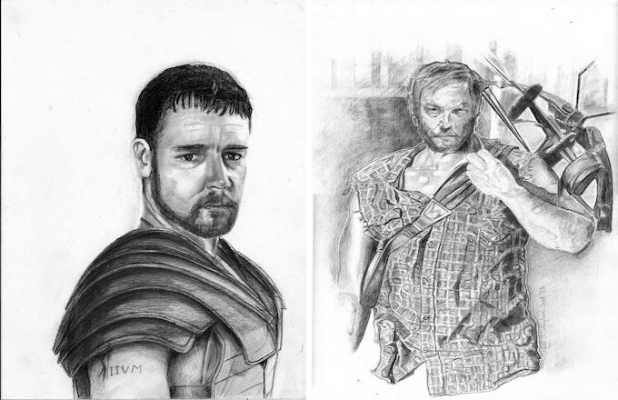 Drawings ,`Gladiator` and `Daryl` Rewards #13 & #14