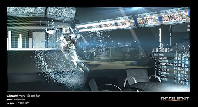 Mars Sports Bar (greenscreen and holographics)
