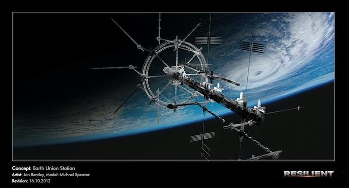 Earth Union Station (model)