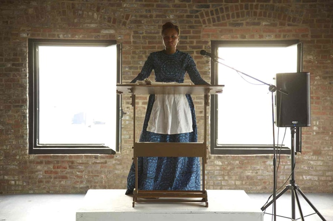 Image from 'Auction' performance (2013)
