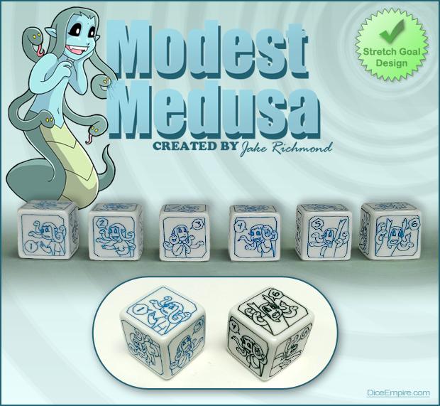 Available Colors - White Die: comic black or Medusa blue.