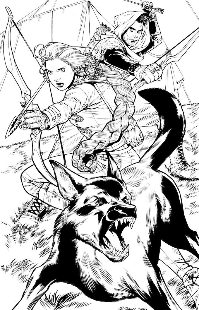 Robin, Tal, & Hecuba INK for Print by Rebekah Isaacs