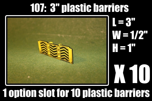 NO NEED TO PAINT!!!  this is the way they look when you pull them out of the box.1 option gets you 10 of these barriers, also all pledge levels 50 dollars and above gets one of these for free!!!
