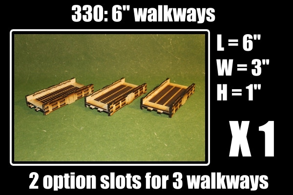 3 walkways for 2 option slots