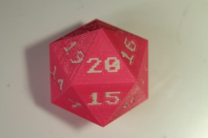 Get your own 3D printed Twenty Sided Die!
