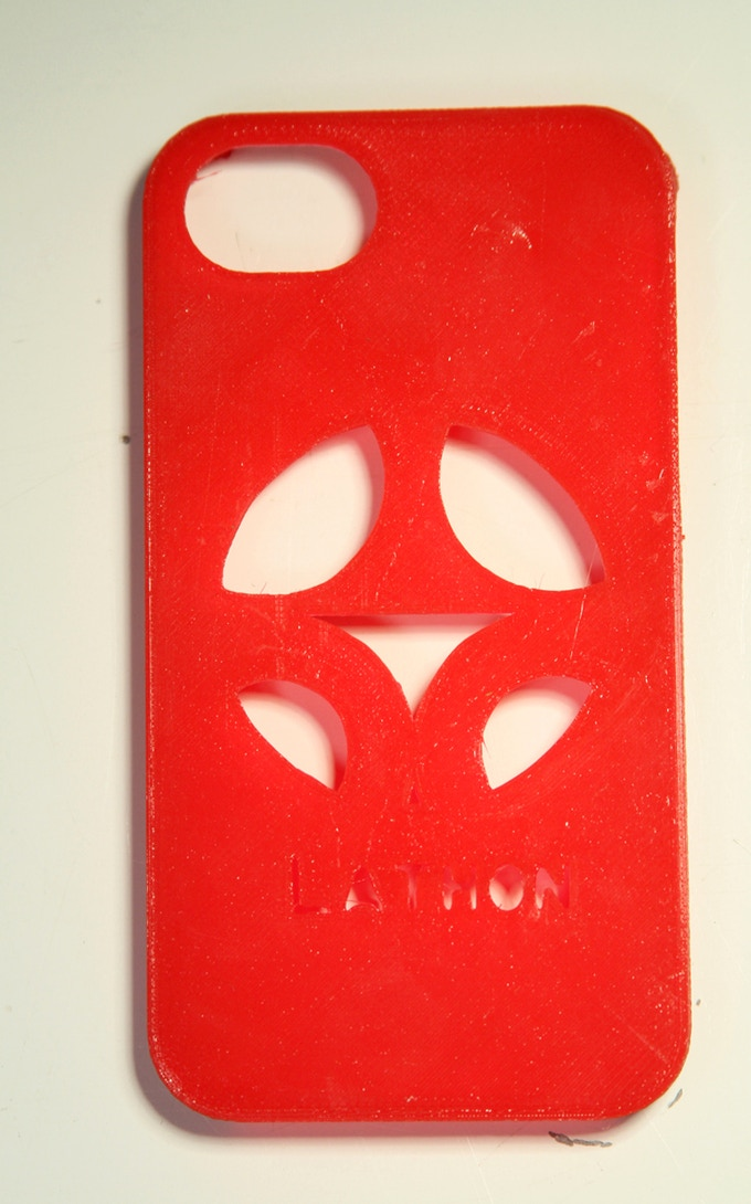 Your initials on a 3D printed iPhone case, choose your color!