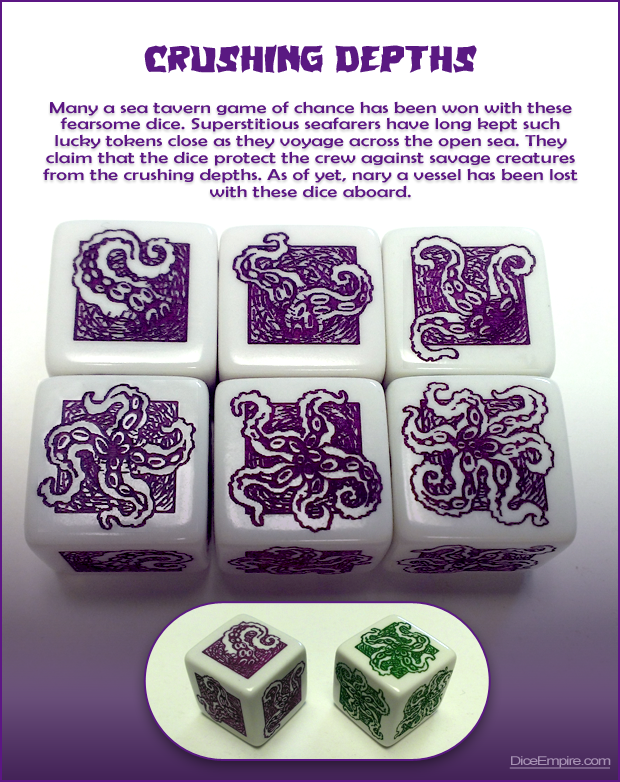 Available Colors - White Die: purple or green paint.