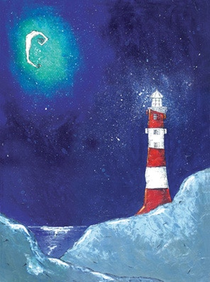 Lighthouse Moon- the artwork I created that inspired my story!