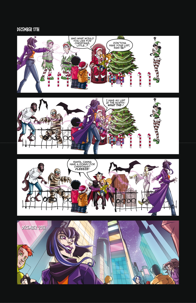 """""""Punking Santa"""" Page Four by the DF Crew"""