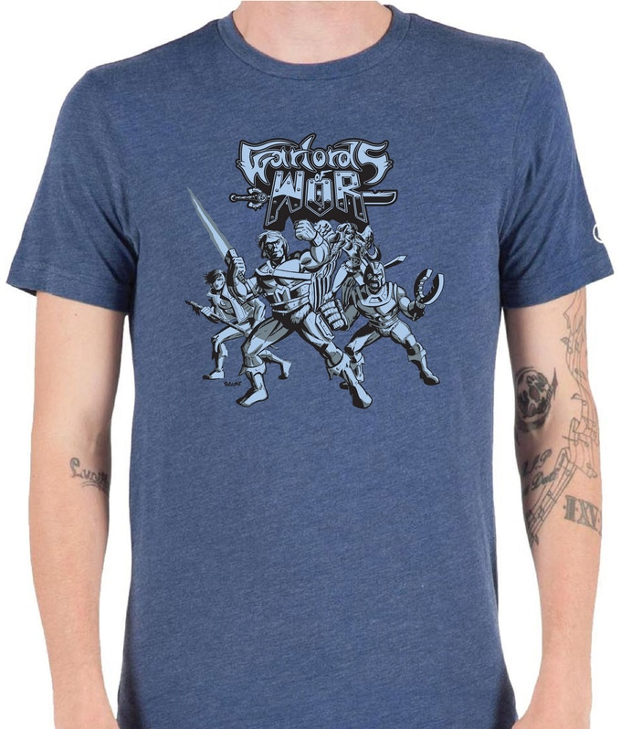 Warlords of Wor HEROES tee, art by Chris Faccone