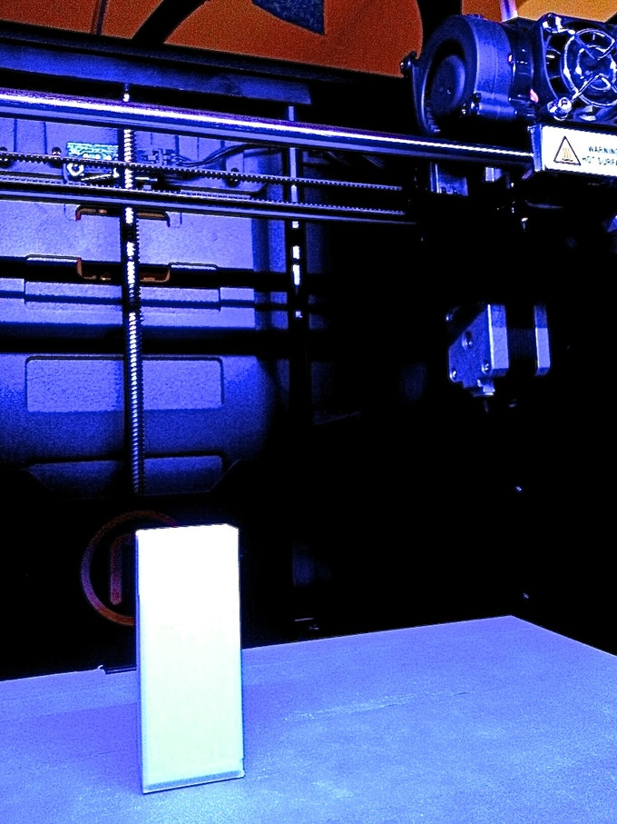 Prototype housings were created on a 3D printer