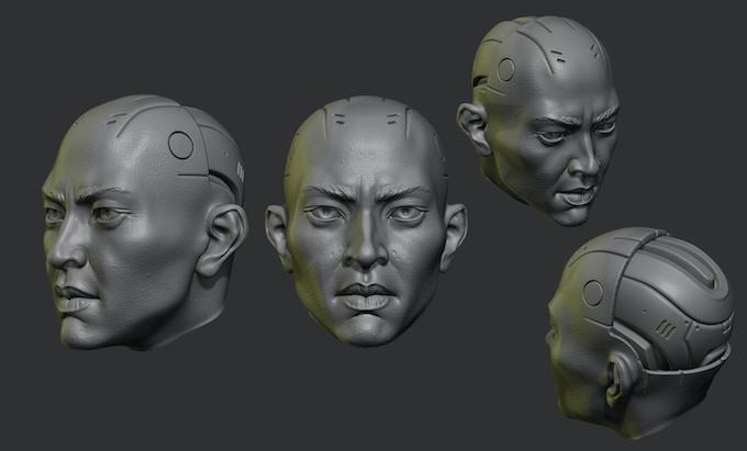 Asian Synthetic Head
