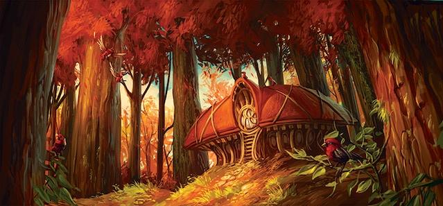 Solitude's Nest, a Vowelon haven illustration by Eduardo Garcia