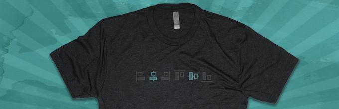 """Mock-up of """"Get Aligned"""" t-shirt."""