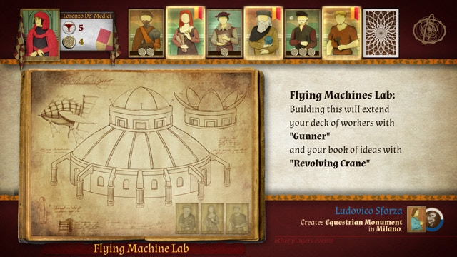 Genio videogame: playing builder cards on the Book of Ideas