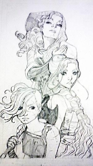 Ryder, Tal, & Tessa Drawing by Renae De Liz