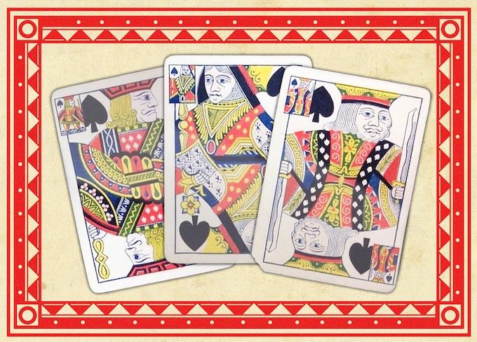 Original 1876 Triplicate Spades