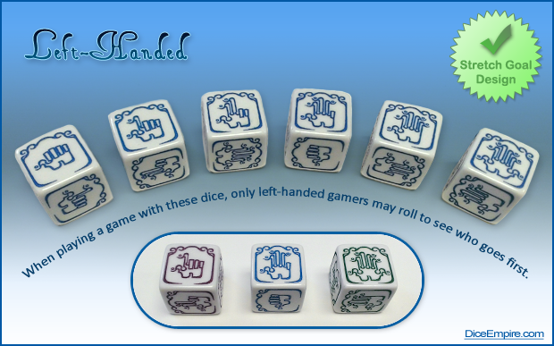 Available Colors - White Die: blue, green or purple paint.