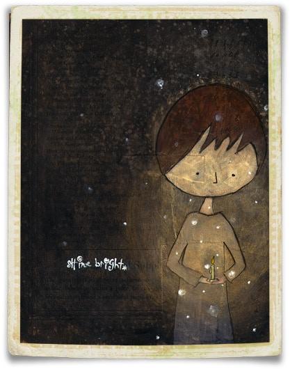 "{ ""Shine Bright"" | Mixed-media on Wood }"
