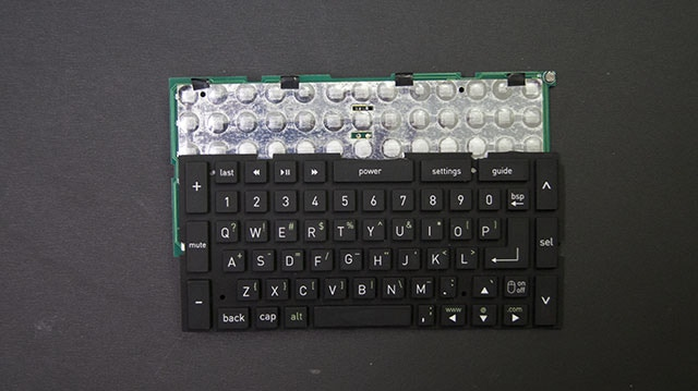 """Our first prototype keyboard. The """"touch"""" was all wrong so we had to start over."""