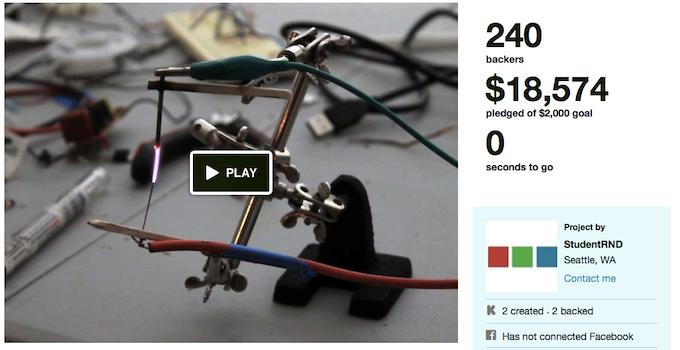 First Plasma Speaker Kickstarter by StudentRND